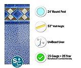 Smartline Mosaic Diamond 24-Foot Round Pool Liner