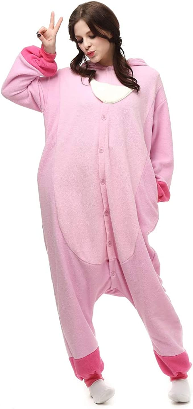 Amazon Com Tsmy Halloween Costumes Unisex Adults Lilo Stitch Onesie The Movie Pajamas Pink Clothing