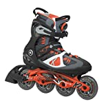 K2 Skate Men's VO2 90 Boa Inline Skates, Black/Orange, 8.5