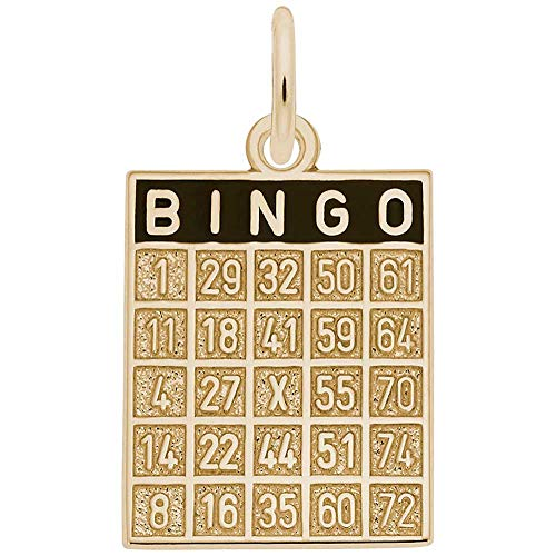 Rembrandt Charms Bingo Card Charm, 14K Yellow Gold