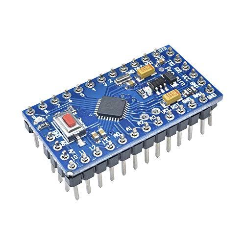 diymore 10pcs Pro Mini ATmega328 5V 16MHz Module with Crystal Oscillator Pins for Arduino Nano Replace ATMEGA128