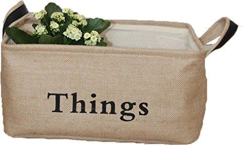 LNHOMY - Cestas organizadoras de almacenamiento para guardería con asa de piel para clóset de casa, juguetes, ropa sucia,...