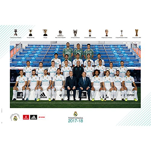 Grupo Erik editores gpe5182 – Poster 2017/2018 with Real Madrid Design Template, 61 cm x 91.5 cm by Grupo Erik Editores