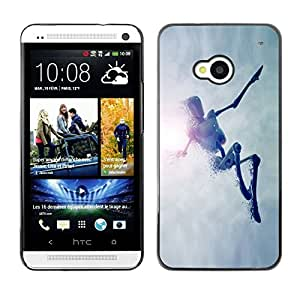 LECELL -- Funda protectora / Cubierta / Piel For HTC One M7 -- Jumping Robot --
