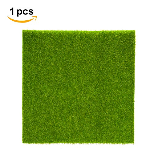 Artificial Grass Mat Plastic Lawn Grass Indoor Outdoor Green Synthetic Turf Micro Landscape Ornament Home Decoration ( Size : 15cm X 15cm/6 x 6inch )