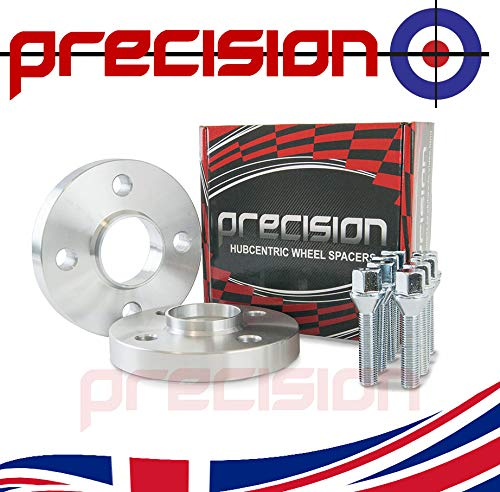 Precision 1 Pair of 20mm Hubcentric Wheel Spacers and 8 Extended Bolts for ƁMW 3 Series 316 1982-1994 PN.2PHS18+8BM1745111