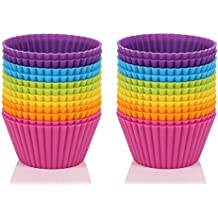 Anitiz Premium Silicone Baking Cups / Cupcake Liners - Reusable, Non-Stick, Safe, BPA-Free (Pack of 24)