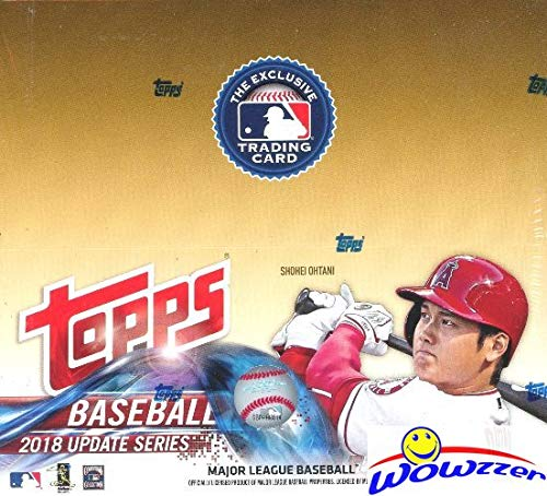 2018 Topps Update Baseball MASSIVE 24 Pack Retail Box with 288 Cards! Loaded with Rookies & Inserts! Look for ROOKIES, AUTOGRAPHS & RELICS of Juan Soto, Ronald Acuna, Shohei Ohtani & More! WOWZZER!