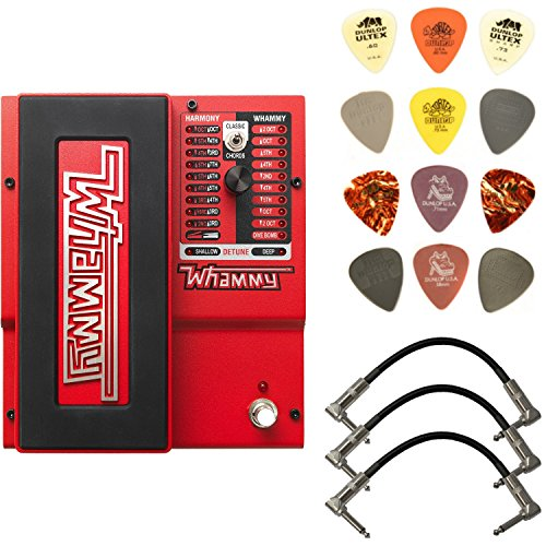 - Digitech Whammy 5 Pitch Shift Pedal Bundle with 3 Patch Cables and Dunlop PVP101 Pick Pack