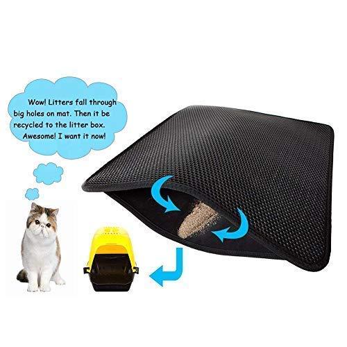 double layer honeycomb cat litter mat  foldable waterproof