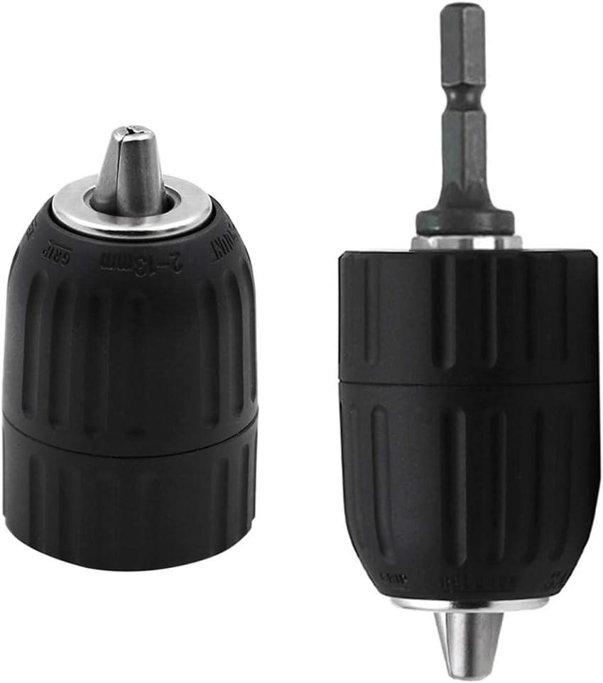 SDS Mandrin de conversion pour marteau /électrique Clip pour mandrin sans cl/é 0.8-10MM 1//4  Hex Shank Rod Chuck Adapter