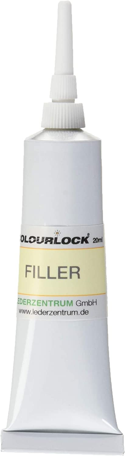 COLOURLOCK Leather Filler | Fill and repair small holes, tears, deeper scratches and cracks on leather | For car interiors, furniture, apparel, shoes, bags and accessories | White 20 ml