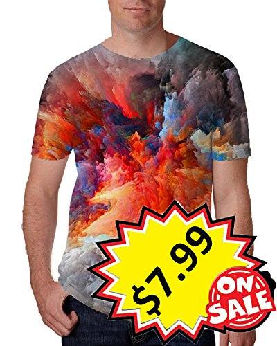 Leapparel Unisex Abstract Painting Graphic Designed Summer Round Neck T Shirts Tees S