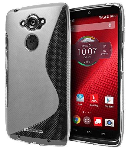 Motorola DROID Turbo Ballistic Nylon Case, Cimo [Wave] Premium Slim TPU Flexible Soft Case For Motorola DROID Turbo (Ballistic Nylon Only) - Clear
