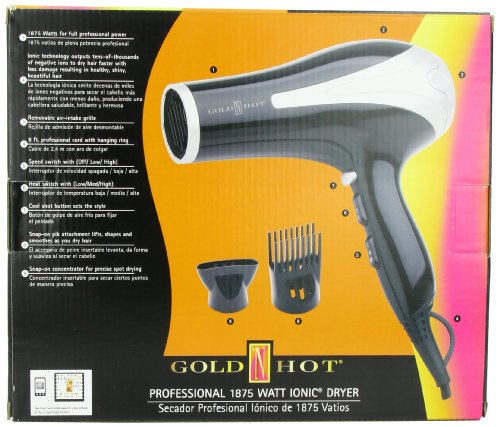 Gold 'N Hot 1875-Watt Professional Dryer with Tourmaline by Gold N Hot (Image #2)