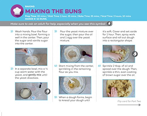 Baketivity Kids Baking Set, Meal Cooking Party Supply Kit for Teens, Real Fun Little Junior Chef Essential Kitchen Lessons, Includes Pre-Measured Ingredients, Cinnamon Buns by Baketivity (Image #3)'