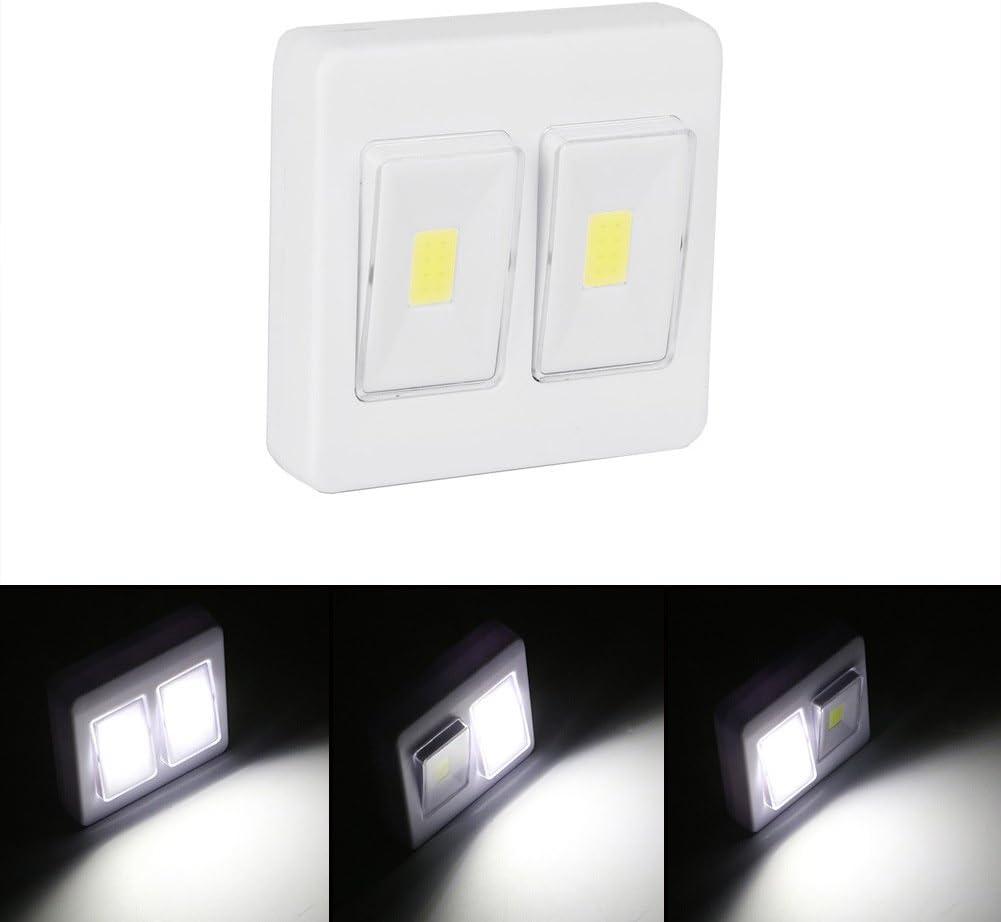 1x COB LED Wall Switch Wireless Closet Cordless Night Light Battery Operated