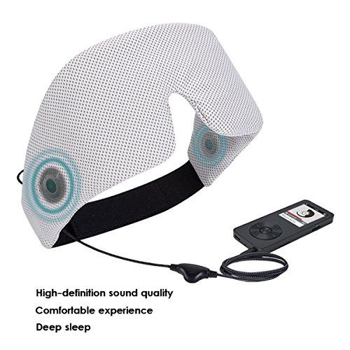 Los Sueño Del De Zp01 Yoga Viajes Meditación Gris 62 Cancelación Con Auriculares Aéreos Máscara Cm Ojos Agptek 5 Ect Confortable Ruido La 52 tqPSx