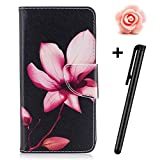 Samsung Galaxy J5 2017 Case(Europe Version) Flip Wallet Case,Samsung Galaxy J5 2017 Leather Case,TOYYM Book Style Ultra Slim PU Leather Flip Cover Wallet Case with Cash&Card Slots Stand Credit Card Holder Function Magnetic Closure,3D Creative Flower Animal Pattern Design Folio Full Body Protection Case Cover for Samsung Galaxy J5 2017 SM-J530(Pink Lotus)