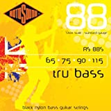 Rotosound RS88S Black Nylon Flatwound Short Bass Guitar Strings (65 75 90 115)