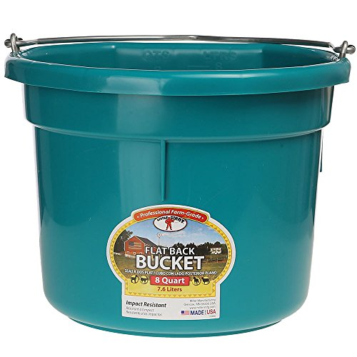 LITTLE GIANT P8FBTEAL P8FB Teal Bucket-Flat Back