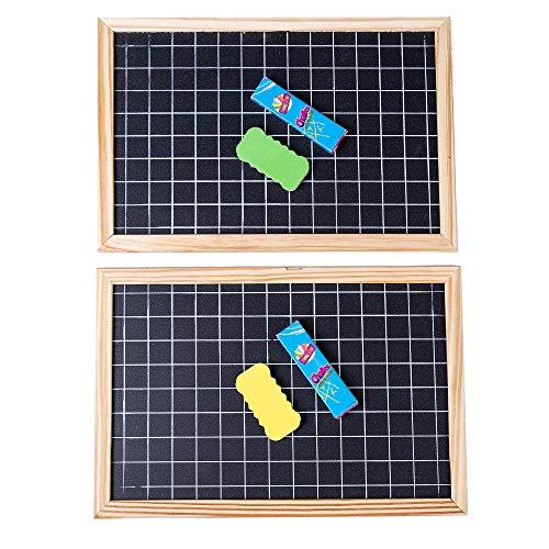Xena 2 Pack Chalkboard Grid Frame Reversible Chalk Board DIY Calendar Kids Chore Chart Schedule Educational Toys Events Weddings Accessories School Supplies Blackboard 10.24 x 10.83 x .28 Inches Each