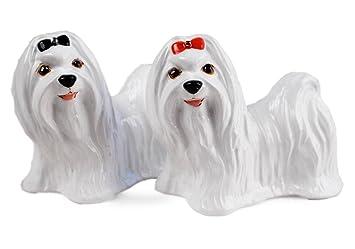 Bedlington Terrier Geschenke Salz-und-Pfeffer-Set Handgefertigt von Blue Witch