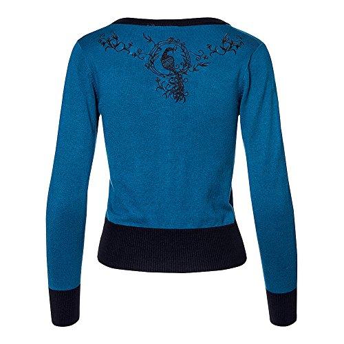 Cárdigan Voodoo Vixen Tammy (Azul) Azul