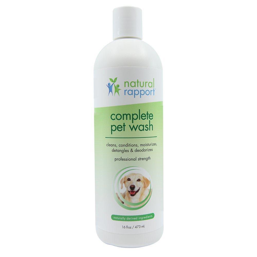 Natural RapportShampoing et après-shampoing pour chien avec flocons d'avoine et à l'aloe, 5en 1nettoie après-shampoing désodorise hydrate et démêleSuperbes lingettes parfum frais qui élimine les odeurs humides de chiens946ml