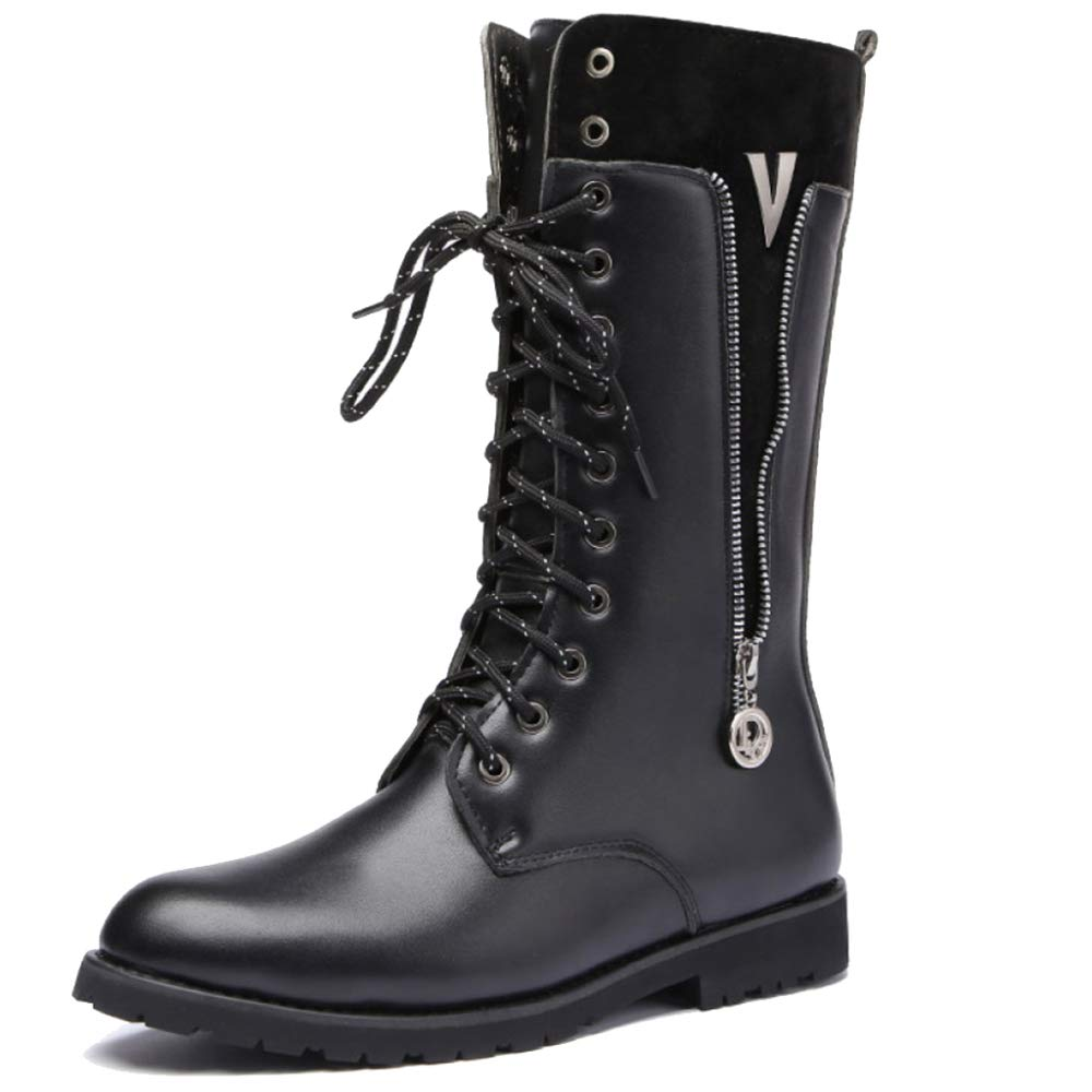 7dd13ecfbe8ae Amazon.com: SHANHEYY Mens Combat Boots Mid Calf Boots Tactical Boot ...