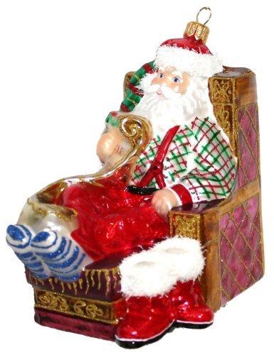 Christbaumschmuck Weihnachtsmann Santa Mit Ringelsocken