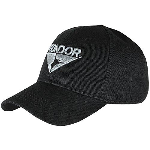 Condor Signature Range Cap - Adjustable Tactical Operator Hat with Logo, BLACK