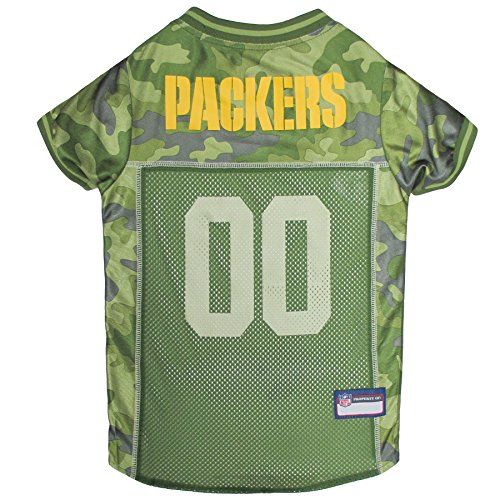 NFL Green Bay Packers Camouflage Dog Jersey, Small. - CAMO PET Jersey Available in 5 Sizes & 32 NFL Teams. Hunting Dog Shirt ()