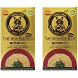 Samurai Ramen UMAMI サムライラーメン旨味 1箱(2人前)(スープ・箸2膳・侍言葉トランプ1枚付)×2箱