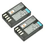 DSTE® 2x D-Li109 Replacement Li-ion Battery for Pentax K-R K-30 K-50 K-500 KR K30 K50 K500 K-S1 K-S2 K-70 K-1 Camera