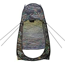 Businda Portable Pop up Privacy Shelter Dressing Changing Tent,Outdoor Shower Pop up Tent with Carrying Bag,Gray