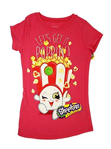 Shopkins Big Girls Shopkins T-Shirt (EXTRA SMALL (4/5), P...