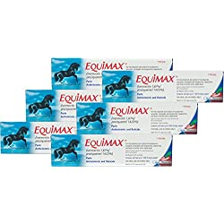 Equimax Horse Wormer Ivermectin 1.87% and Praziquantel 14.03% Paste Tube ALL SIZES (6 Tubes)