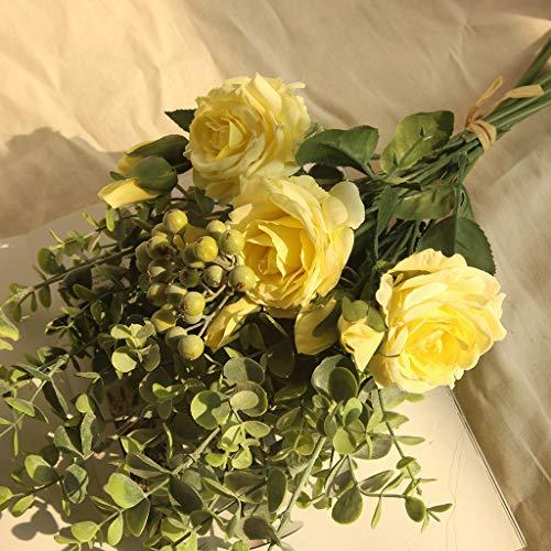 (Other-sey Artificial Flower Range Rose Square Upper Open Silk Flower Pretty Translucidus Hydrangea Flowers Bouquet Bunch Home Wedding Party Gift Deco)