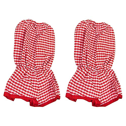 Sleeve Protectors, Baker Sleeves, Sleeve Covers, Clothing Protectors Red Gingham - Set of 2. (Cotton Smith Overalls)