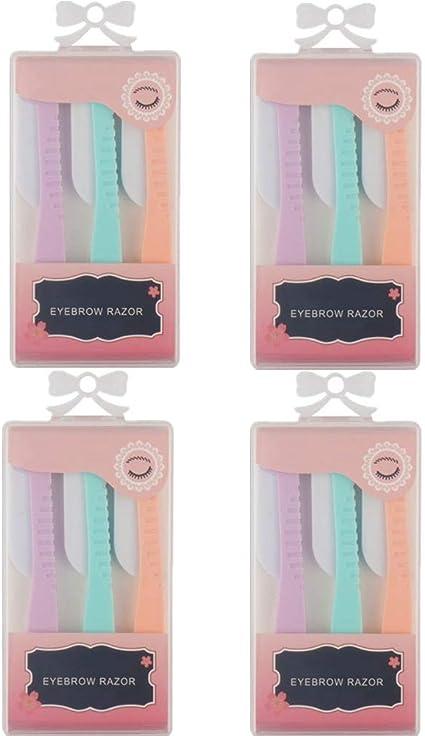 Cuchilla Cejas Afeitadora Mujer Cuchillas De Afeitar Mujer Cuchilla Facial Mujer Depiladora Cejas Rasuradora Mujer Perfilador De Cejas Depiladora De Cejas Mujer 4 sets: Amazon.es: Belleza
