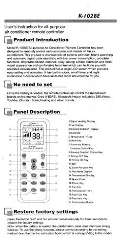 K-1028E 各社共通1000種対応 合計1000種類のエアコンコードを内蔵した エアコン用 ユニバーサル マルチリモコン[エアコン 汎用 リモコン] 金さんの店