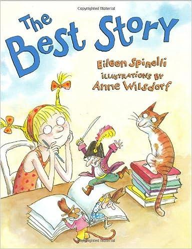 The best story es un cuento sobre una niña que quiere escribir la mejor historia para ganar el premio de la biblioteca.