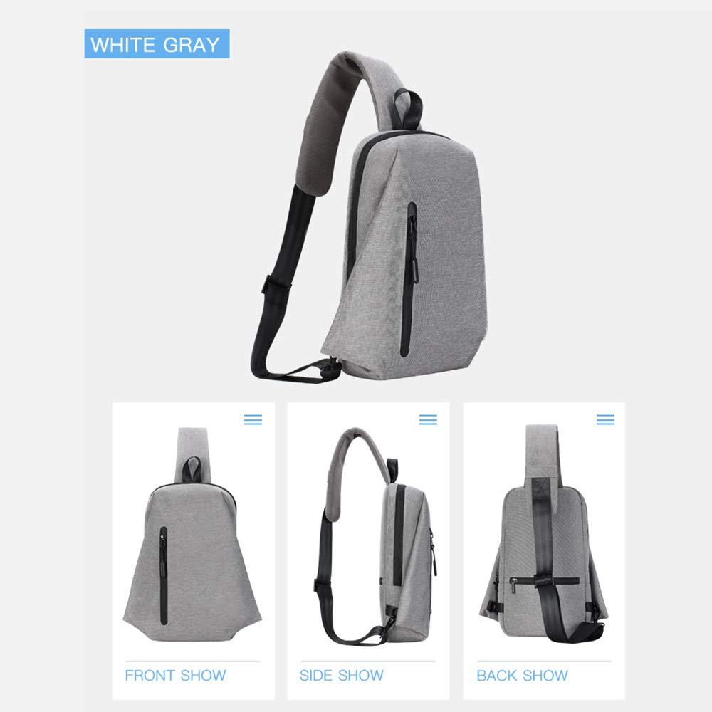 Waterproof Wear Resistant Shoulder Bag Outdoor Travel Messenger Bag,Black Q/&N Mens Chest Bag Casual Multi-Function Sling Pack