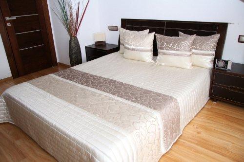 Rodnik Luxus Tagesdecke Bettüberwurf Turin 3 tlg. Set mit 2