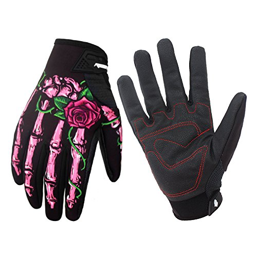 RIGWARL Winter Gloves Skeleton Zombie Bones Design Windproof...