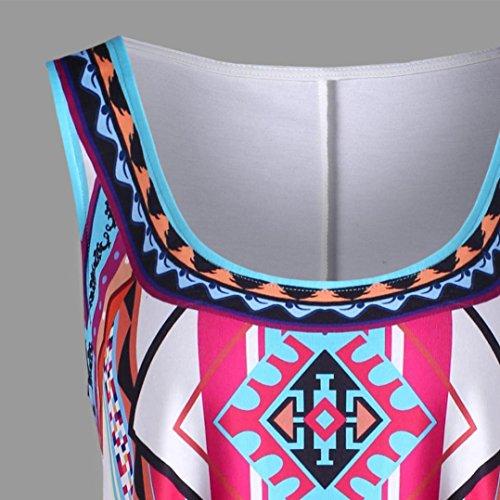 Shirt Femmes Gilet Bohmien Dbardeur Casual T Manche Taille Sexyville sans Elegant Et Impression Tops Blanc Grande z6W5wnqd
