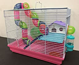 NEW 2 Levels Hamster Habitat Rodent Gerbil Mouse Mice Rats Animal Cage 463