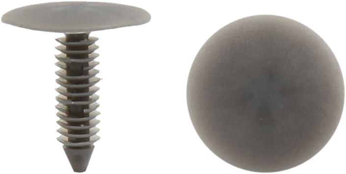 Car Bumper Door Trim Fender Plastic Push in Rivets Panel Fastener Gray 50 Pcs