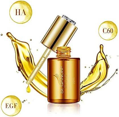 STQANON Face Serum with Mineral Fullerene, Hyaluronic Acid for Anti Aging Wrinkle Reducing Facial Essence Hydrating Collagen, 1 fl oz